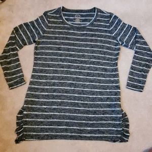 Maurices 24/7 size Large striped sweater tunic